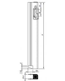 GTO Tegenstuk voor bordwandsluiting 1-plus links