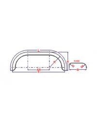Universeel spatbord metaal tandem rond 240x1500 mm