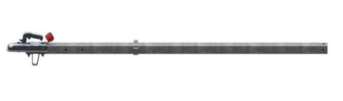 Dissel recht vierkant 60 met koppeling 750kg 2m