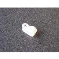 Kabelzadel wit kunststof 10 mm