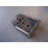 Rubber steun voor vierkant breedtelicht
