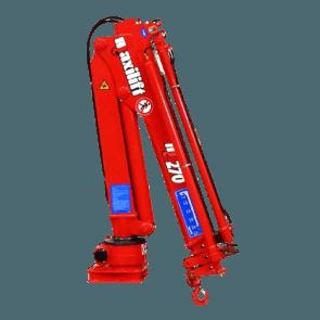 Maxilift M270 LME04+SCU laadkraan 3 hydraulische giekdelen met montageframe 2 hydraulische steunpoten
