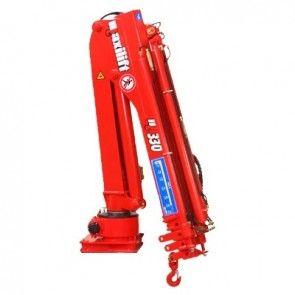 Maxilift M330 LME04 laadkraan 3 hydraulische giekdelen met montageframe 2 hydraulische steunpoten