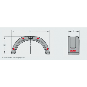 AL-KO spatbord PLUS kunststof enkel 200x720 mm