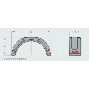 AL-KO spatbord COMPACT kunststof enkel 180x620 mm