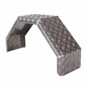 De Haan aluminium traanplaat spatbord enkelas