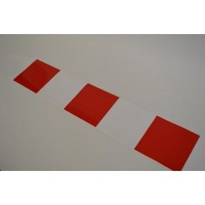 Markerings sticker rood/wit