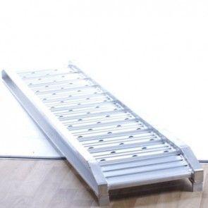 Set oprijplaten aluminium 2000kg 185x37cm