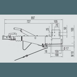 AL-KO Oplooprem 161S 1637 / 2051 vierkant 100