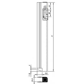 GTO tegenstuk voor bordwandsluiting 1-plus rechts