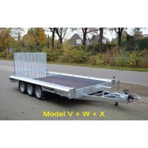 Vlemmix machinetransporter tridem 400x180cm