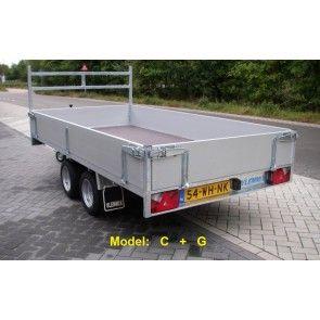 Vlemmix plateauwagen tandemas 300x153cm