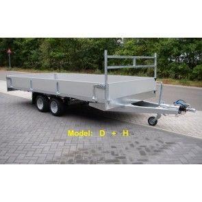 Vlemmix plateauwagen tandemas 400x183cm