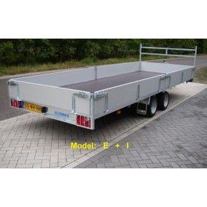 Vlemmix plateauwagen tandemas 500x183cm