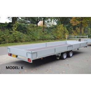 Vlemmix plateauwagen tandemas 625x213cm