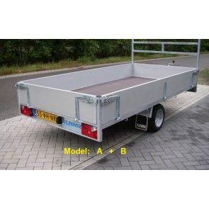 Vlemmix plateauwagen enkelas 300x153cm
