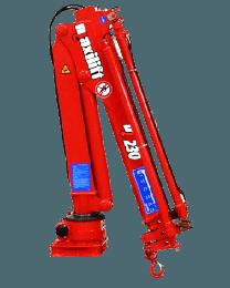 Maxilift M230 LME04+SCU laadkraan 3 hydraulische giekdelen met montageframe 1 hydraulische steunpoot