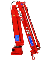 Maxilift M230 LME04 laadkraan 3 hydraulische giekdelen met montageframe 1 hydraulische steunpoot