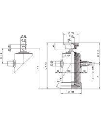 Kipcilinder 5-traps 1190 mm