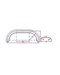 Universeel spatbord metaal tandem rond 260x1500 mm