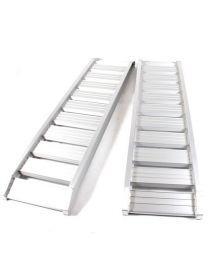 Set oprijplaten aluminium 2400kg 185x37cm