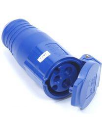 CEE Contrastekker 3 polig 16A blauw