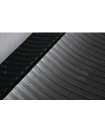 Rubbermat 120x6mm Grove ribbel doekafdruk per str/m