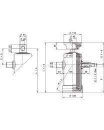 Kipcilinder 4-traps 910 mm