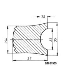 AL-KO PVC stootlijst 3000x37mm