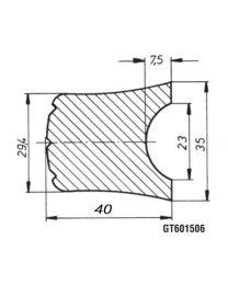 AL-KO PVC stootlijst 3000x40mm