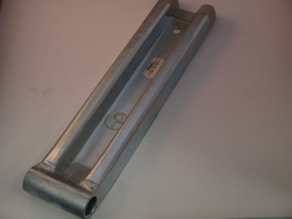 KLEPSCHARNIER 390 MM M/EINDDOP