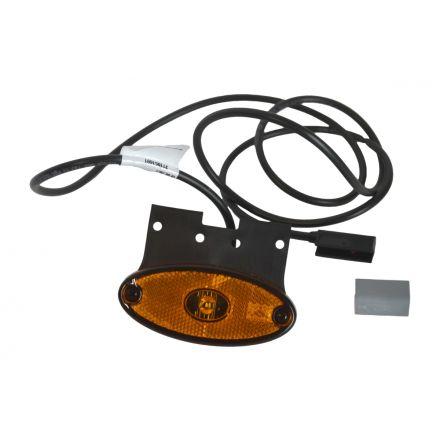 Aspock Flatpoint 2 LED Oranje 24V op houder