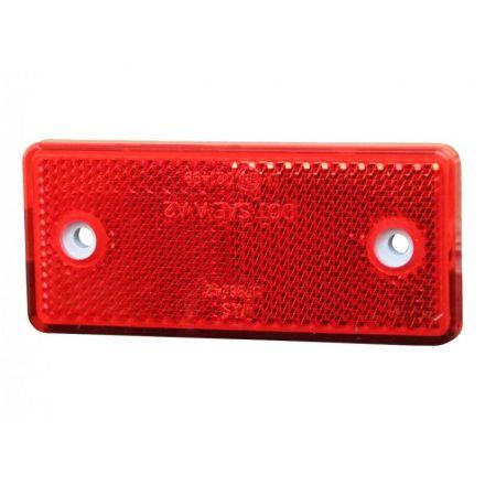 Reflector rood rechthoeking 96x42mm