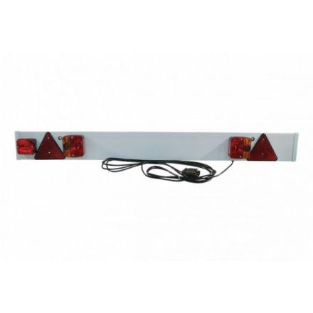 Verlichtingsbalk kunststof 137x14cm 7-polig 6meter kabel