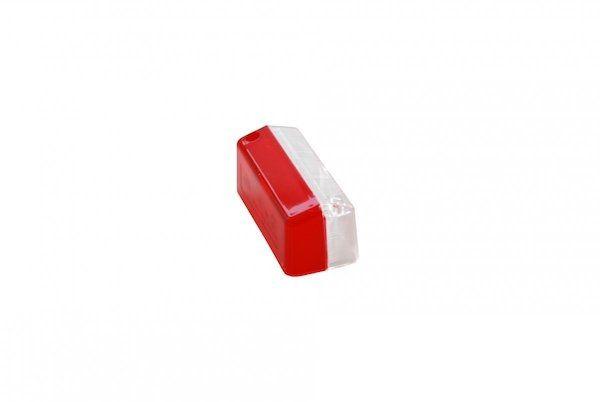 Hella los lampglas zijlamp wit/rood