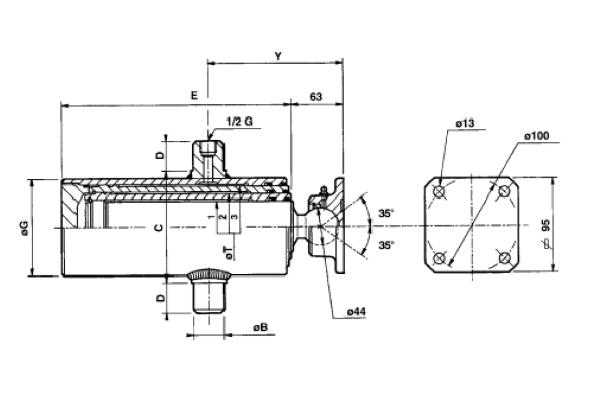 AL-KO kipcilinder 4-traps 945 mm