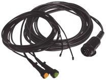 Aspock 13-polige kabel 8 meter bajonet 5-polig