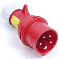 CEE Stekker 5 polig 16A rood
