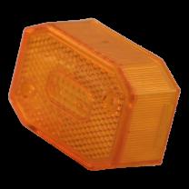 Aspock breedtelichtglas 6-kant reflecterend oranje