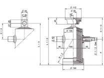 Kipcilinder 5-traps 1040 mm