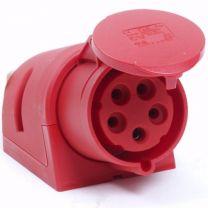 CEE Stekkerdoos 5 polig 32A rood