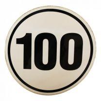 Markeringssticker 100km/h