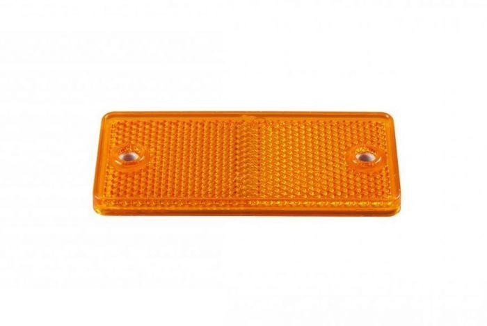 Reflector oranje rechthoekig zelfklevend 90x40mm