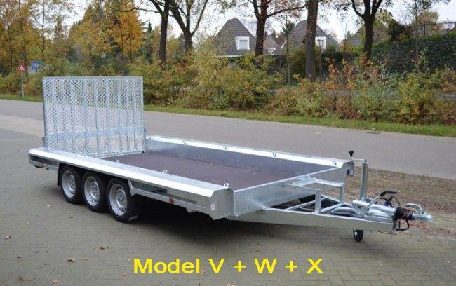 Vlemmix machinetransporter tridem 400x180cm
