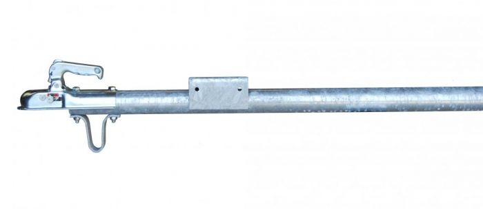 Dissel recht rond 70mm met koppeling 1000kg 2,5m