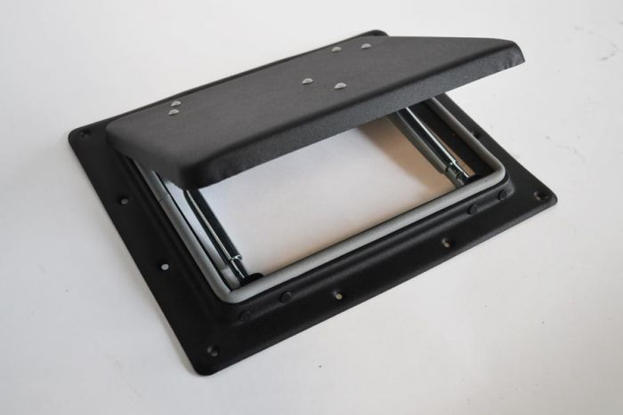 Dakluik gelakt zwart 265x210 mm
