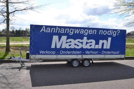 Huif aanhangwagen huren bij Masta Aanhangwagens