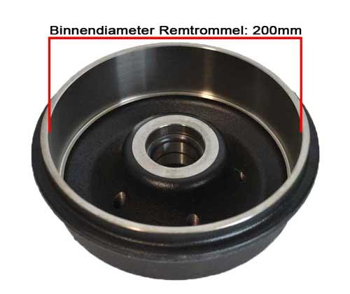 Trommel 200mm diameter