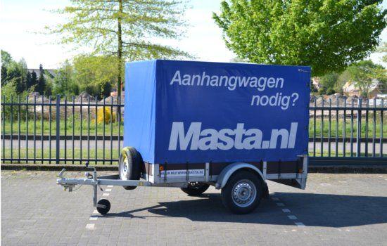 Aanhangwagen met huif huren bij Masta Aanhangwagens